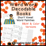 Short Vowel Word Family Book, Decodable, Word Work, Word Study, Phonics