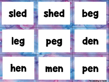 Short Vowel Word Flash Cards