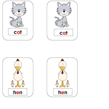 Short Vowel Word Game: 4 in a Row