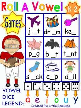 Short Vowel Word Games For Primary Are Hands-On Fun!