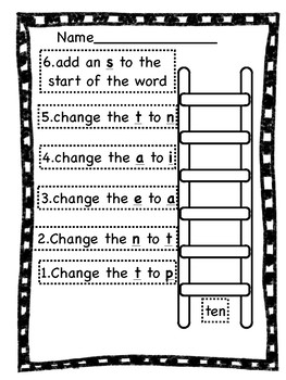 Short Vowel Word Ladders