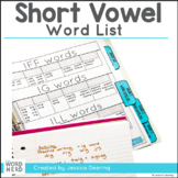 Short Vowel- Word Family Lists