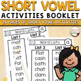 Short Vowel Sounds CVC Words Intervention Pack - Word List