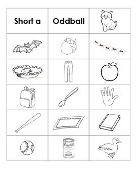 Short Vowel Word & Picture Sorts