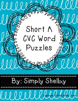 Short Vowel Word Puzzles for A