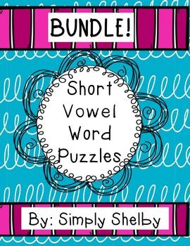 Short Vowel Word Puzzles Big Bundle!