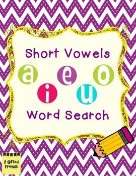 Short Vowel Word Search