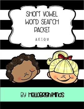 Short Vowel Word Search Packet