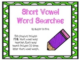 Short Vowel Word Searches