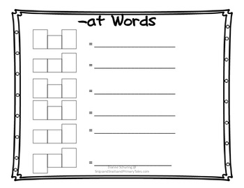 Short Vowel Word Slides: Word Family Practice for the Common Core Standards