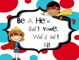 Short Vowel Word Sort Kit - Word Cards, Sorting Mats, Recording pgs., Book, Game