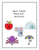 Short Vowel Word Sort Literacy Center