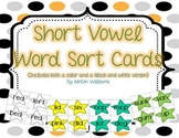 Short Vowel Word Sort Set { color and B&W versions included}
