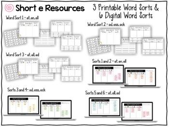 Short Vowel Word Sorts - The BIG Bundle