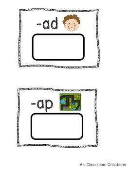 Short Vowel Word Sort Unit:  6 Sorts, 17 Short Vowel Word Families, Sorting Mats