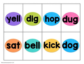 Short Vowel CVC Word Sort & Recording Sheet