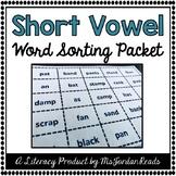 Short Vowel Word Sorting Packet