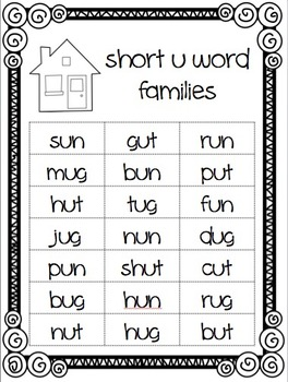 Short Vowel Word Sorts