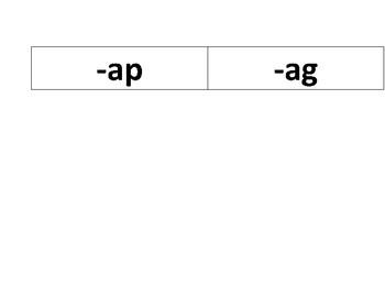Short Vowel Word Sorts (Short a, e, i, o, and u word families)