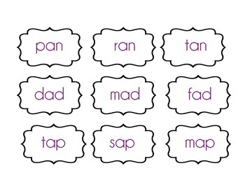 Short Vowel Word Sort & Puzzle Match for reading stations and intervention