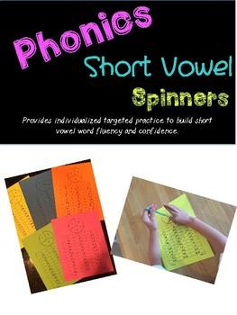 Short Vowel Word Spinners