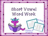 Short Vowel Word Work CVC Words