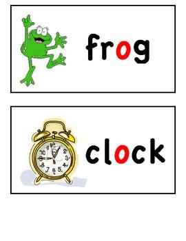Short Vowel Word Wall Cards (short i, o, and u)