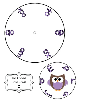"""Short Vowel Word Wheels & """"I Have. Who Has?"""" Activity"""