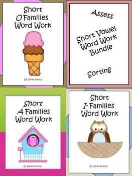 Short Vowel Word Work Bundle