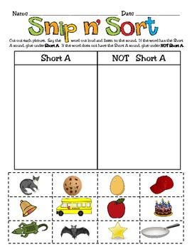 Short Vowel Word Work Activities Pack