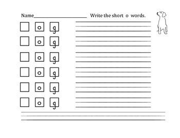 Short Vowel Word Work Book