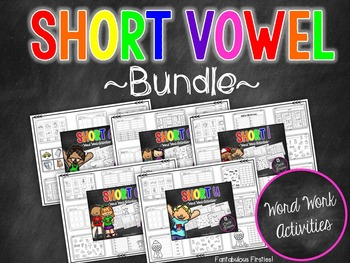Short Vowel CVC Word Work Bundle