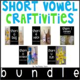 Short Vowel Word Work Craftivities - Phonics Projects BUNDLE