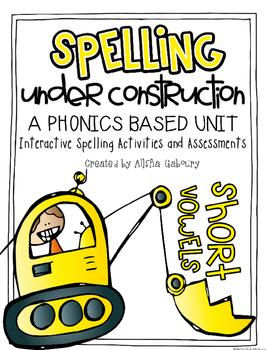 Short Vowel Word Work FREEBIE: Spelling Under Construction