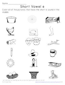Short Vowel Word Work Pack