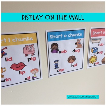 Phonics Posters for Short Vowel Word Work