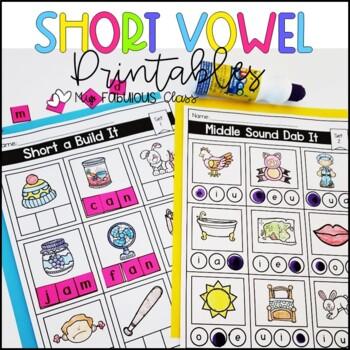 Short Vowel Word Work Printables (CVC Words)