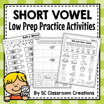 Short Vowel Word Work Set (Bundle)