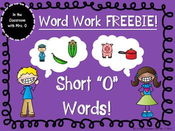 "Short Vowel Word Work- Short ""O"""