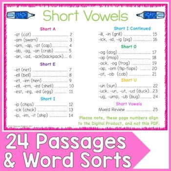 Short Vowel Word Work for Google Slides™