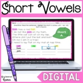 Distance Learning Short Vowel Word Work Activity for Googl