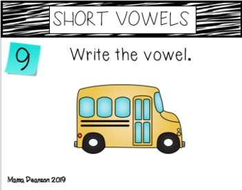 Short Vowel No Prep Printables with Interactive Notebook