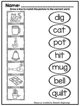 Short Vowel Word and Picture Match