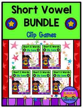 SHORT VOWELS CLIP GAMES - BUNDLE!!