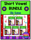 SHORT VOWELS CLIP GAMES - BUNDLE!!
