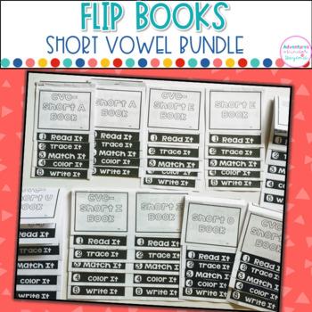 Short Vowel Words- Flip Book Bundle