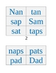 Short Vowel Words Packet: Short a, Phonics/CVC words,  short vowels