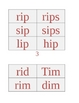 Short Vowel Words Packet: Short i, Phonics/CVC Words, Short Vowels