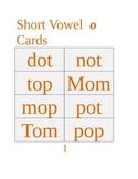 Short Vowel Words Packet: Short o, Phonics/CVC Words