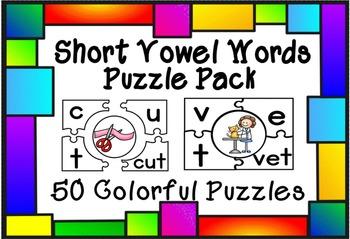 Short Vowel Words Puzzle Pack
